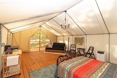 kayak glamping tent copperhill tn