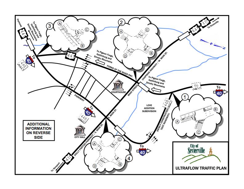 smoky mountain road map